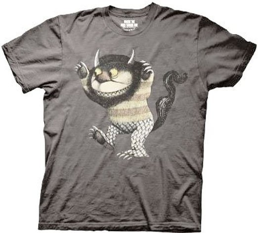 Where the Wild Things Are Wild Thing Adult Charcoal T-shirt