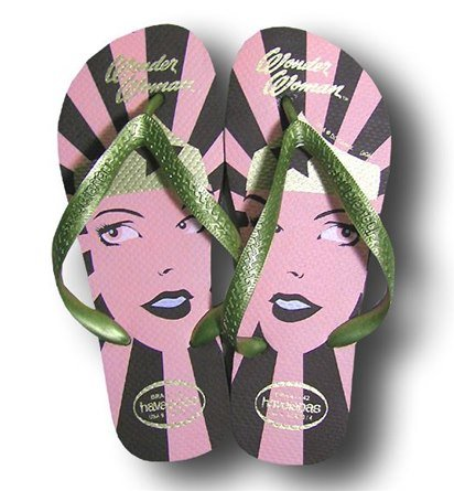 Wonder Woman Havaianas Brown and Gold Flip Flops