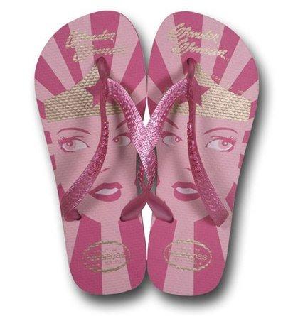 Wonder Woman Havaianas Gum Rose Sandal Flip Flops