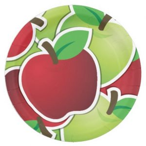 fresh red and green apples teacher appreciaition paper plate