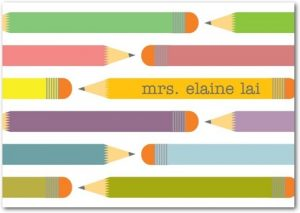 pencil train personal teacher stationery