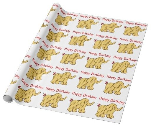 Birthday Elephants Wrapping Paper