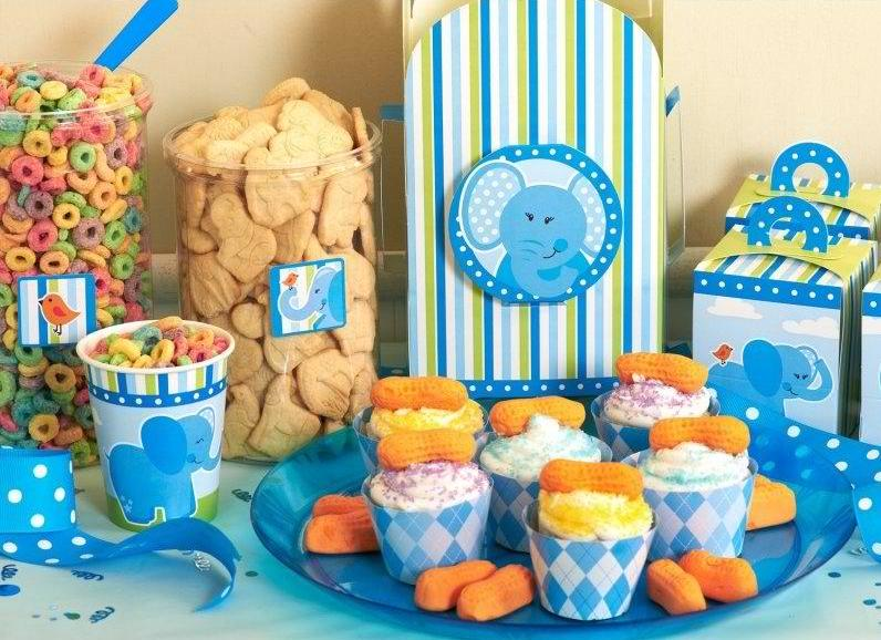Blue Elephants Party Supplies