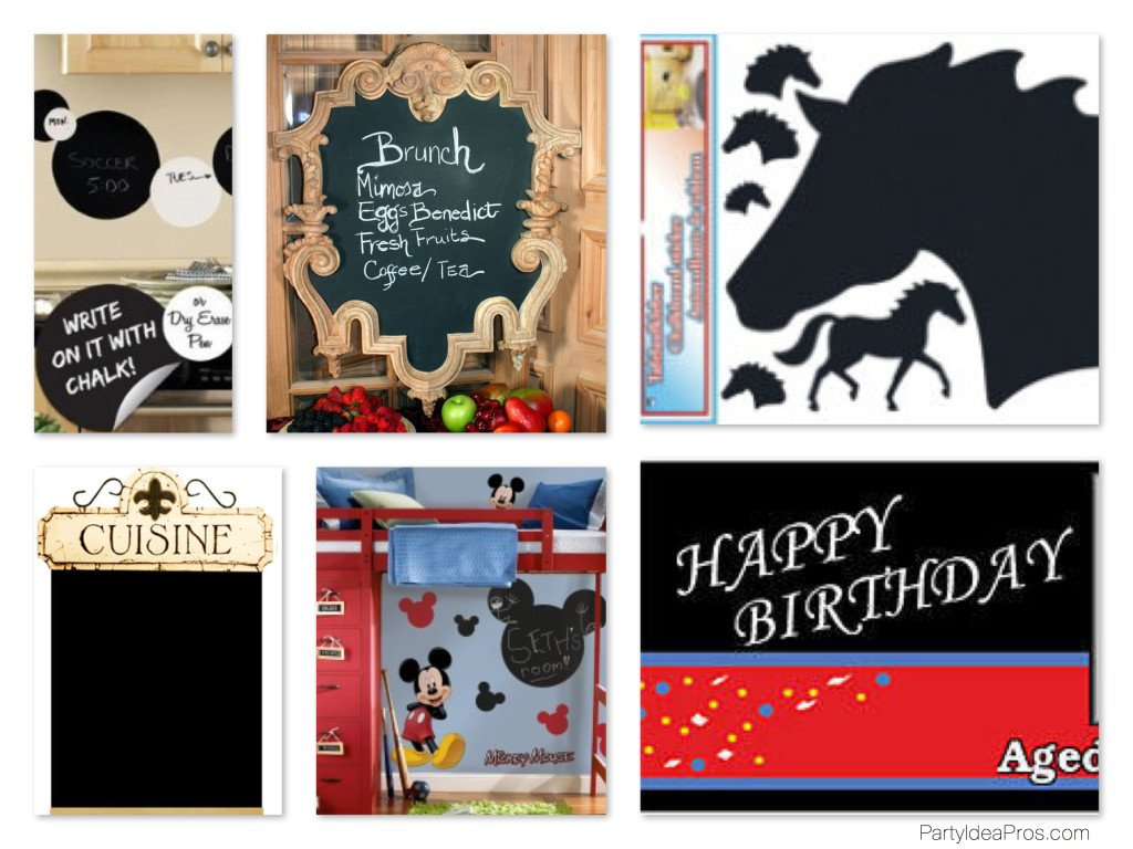 Chalkboard Chic Decals, Wall Stickers, Party Banners