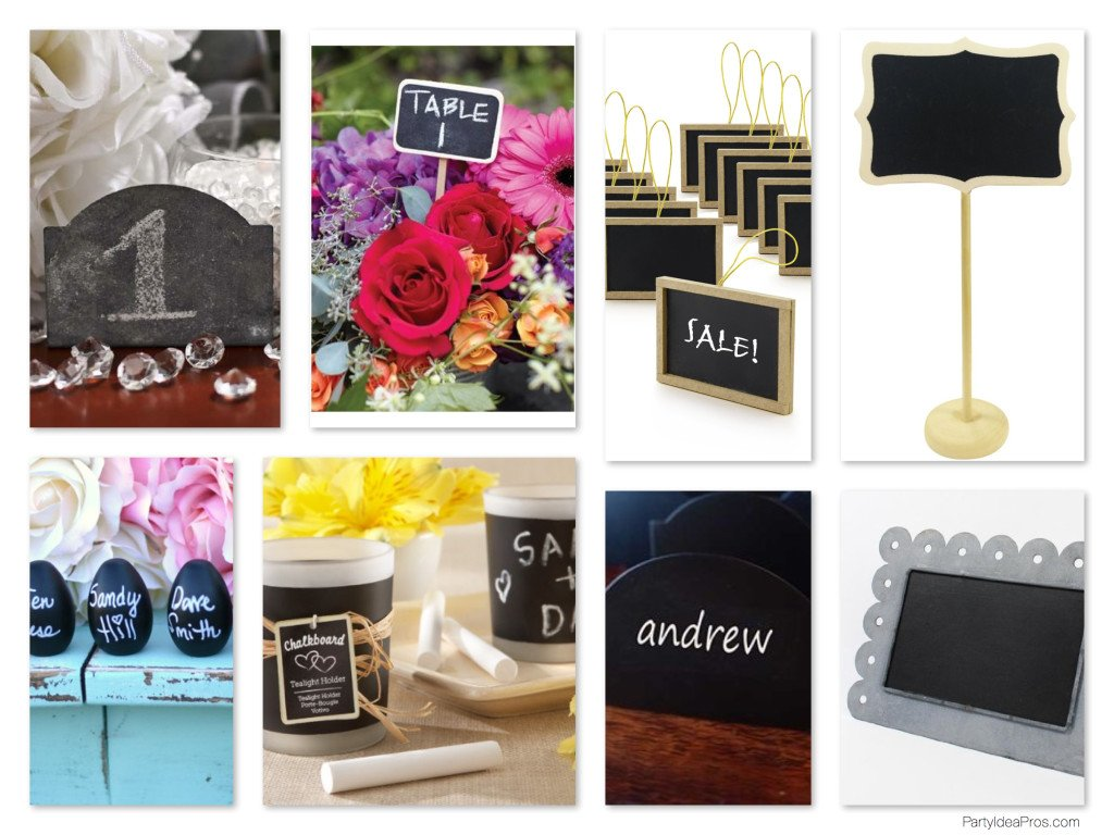 Chalkboard Chic Place Cards & Table Number