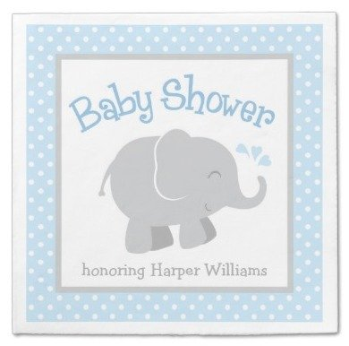 Elephant Napkins  sc 1 st  Party Idea Pros & Elephant Themed Party Planning Ideas u0026 Supplies | Baby Showers ...