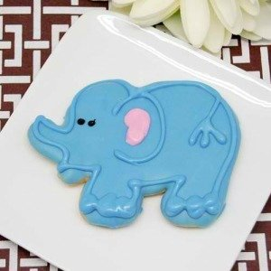 Elephant Party Favor Cookie
