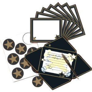 Hollywood Invitations and Seals 8ct