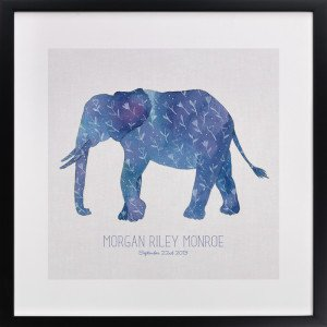 Little Painted Elephant Childrens Custom Art Print