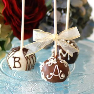 Mini Monogrammed Brownie Favor Pops
