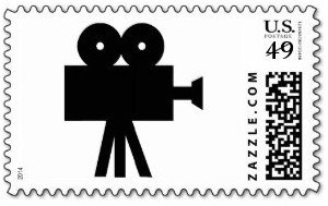 Movie Film Cine Camera Hollywood Postage Stamp