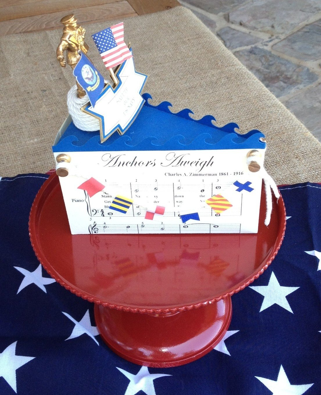 Hand Made Patriotic Cake Box