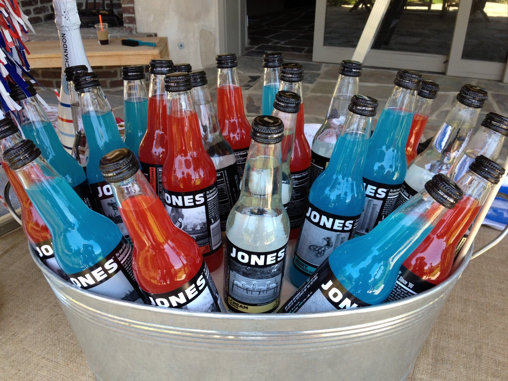 Patriotic Jones Soda & Galvanized Steel Tub