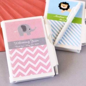 Personalized Little Notes Elephant Notebook Favors