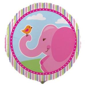 Pink Elephants Foil Balloon