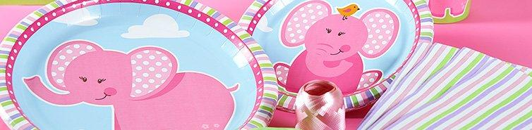 Pink Elephants Party in A Box Party Supplies