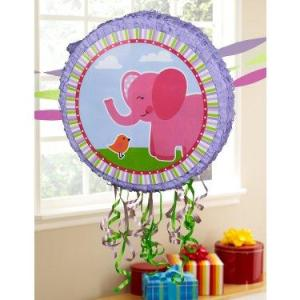 Pink Elephants Pull-String Pinata