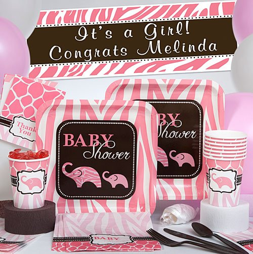 Pink Wild Safari Deluxe Party Pack