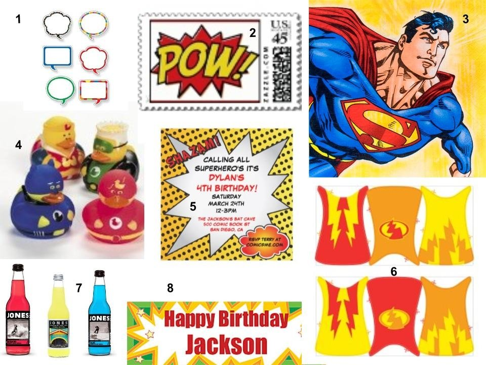 Superhero Party Inspiration Board
