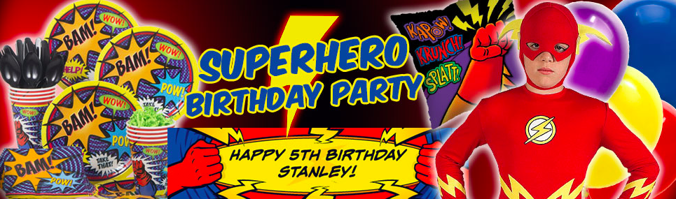 Superhero birthday party supplies