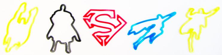 Superman Logo Bandz Bracelets