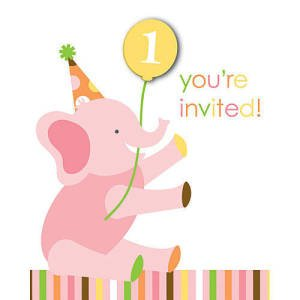 Sweet at One 1st Birthday Invitation