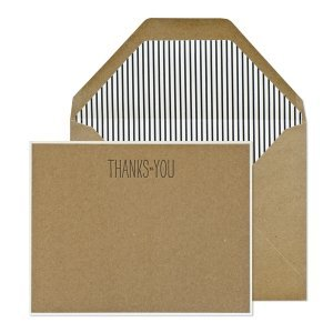 Thanks to You Kraft Correspondence Cards