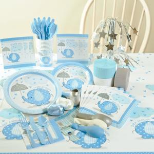 Good ... Umbrellaphants Blue Baby Shower Party Supplies