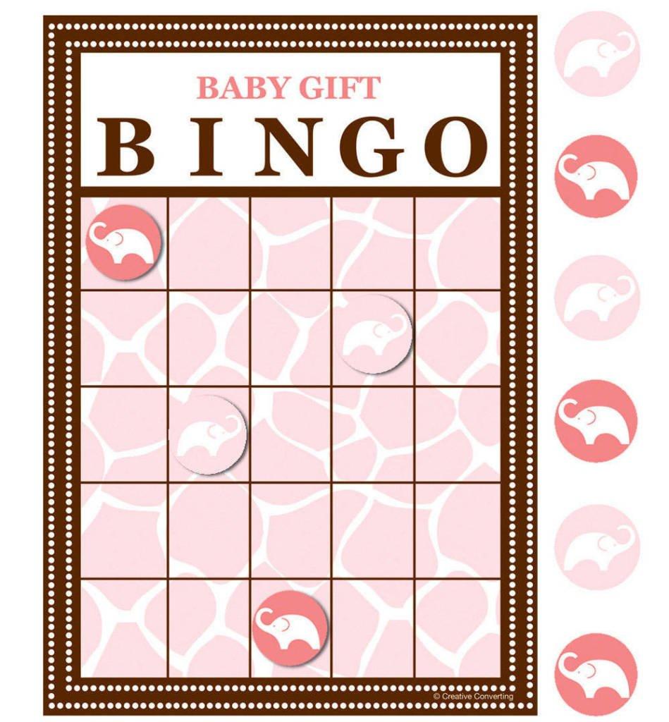 Wild Safari Pink Bingo Game