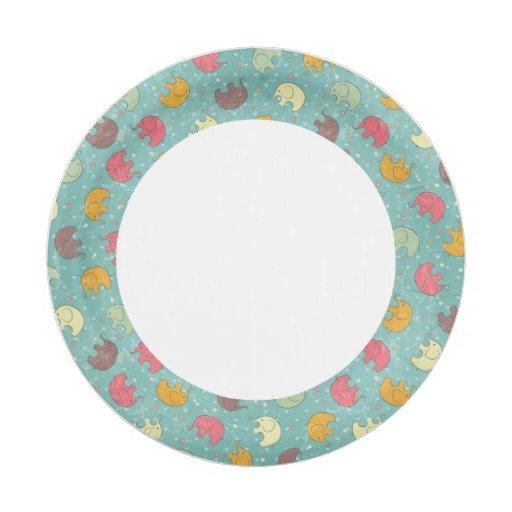 Elephant Paper Plates