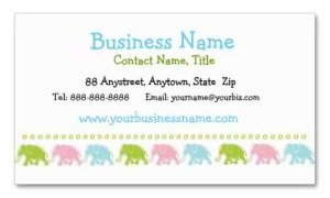 cute elephants place card