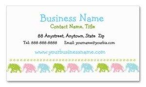 cute elephants place card