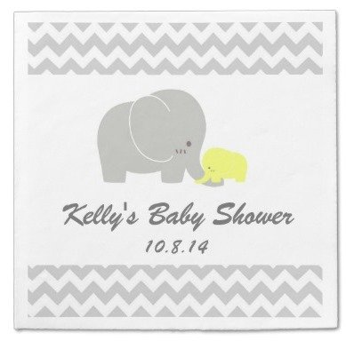 elephant baby shower paper napkin