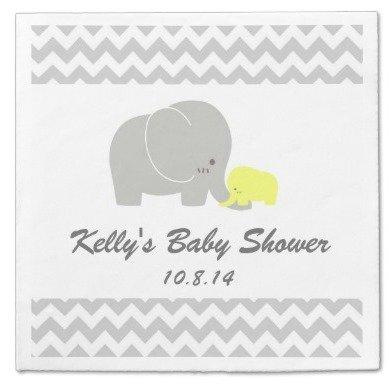 elephant baby shower paper napkin