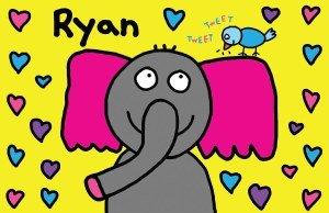elephant kids placemat