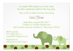 Mod Elephant Polka Dot Baby Shower Invitations