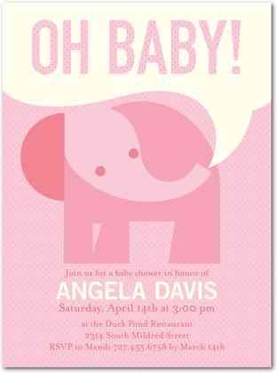 Pink Dotted Baby Shower Invitation