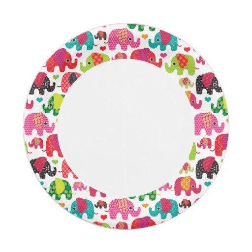 retro_elephant_paper_plates