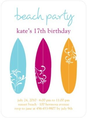 BRIGHT BOARDS BIRTHDAY PARTY INVITATIONS