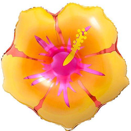 Hawaiian Flower Foil Balloon