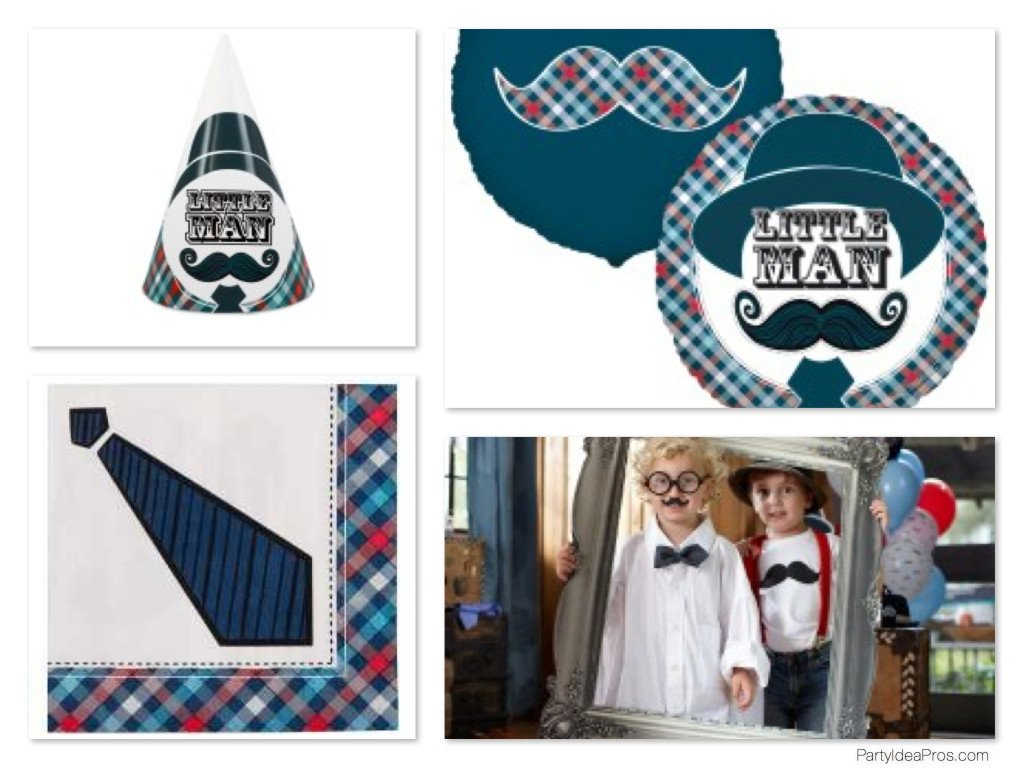 Little Man Mustache Bash Party Supplies