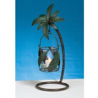 METAL PALM TREE CANDLEHOLDER