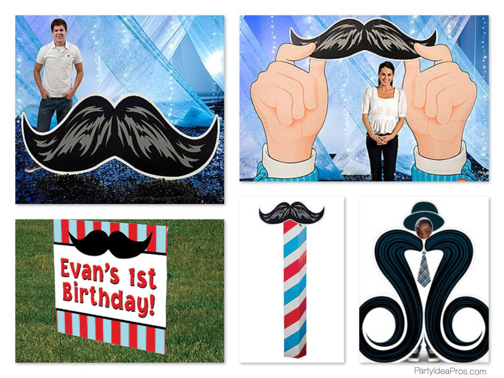 Mustache Bash Party Decorations & Props