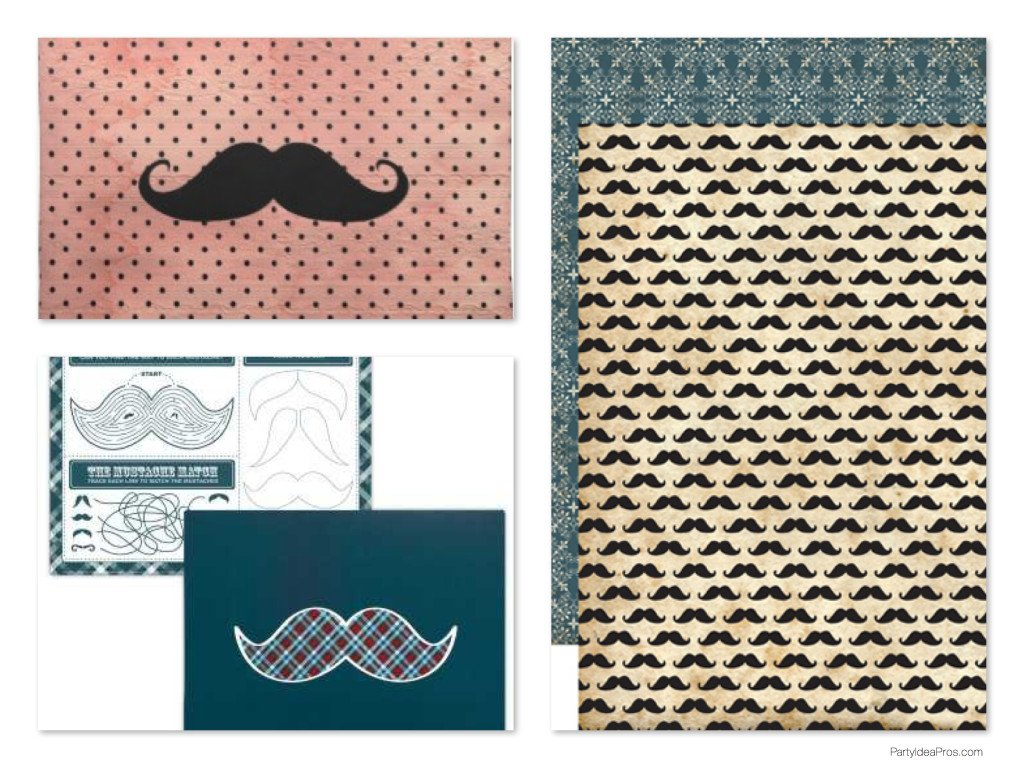 Mustache Bash Party Placemats