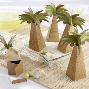 Palm Tree Wedding Favor Box