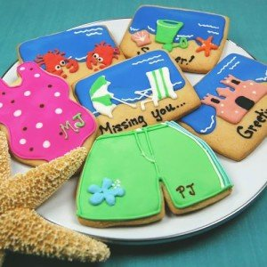 Personalized Beach Themed Cookies