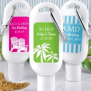 Personalized Sunscreen with Carabiner