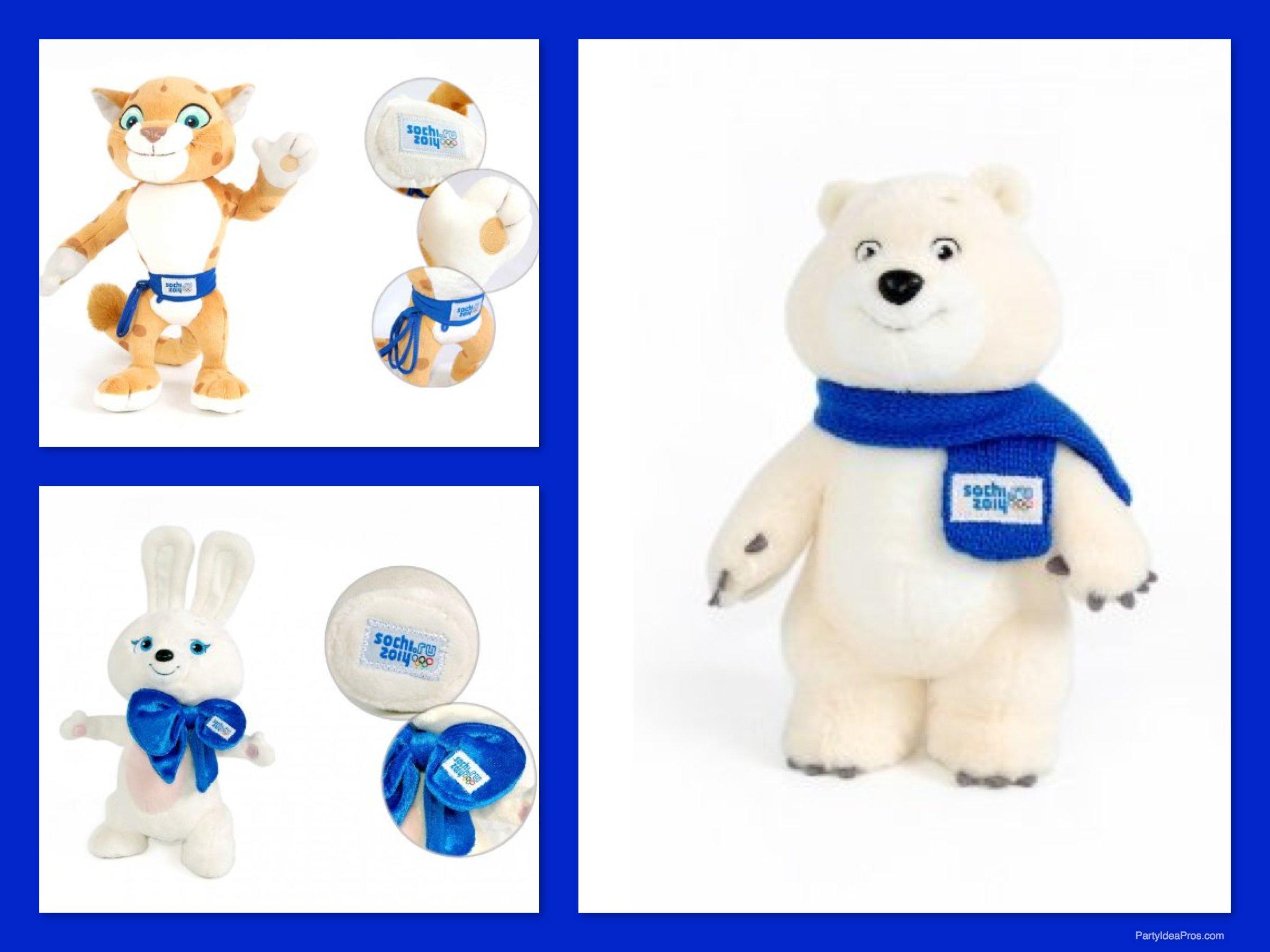 Olympics 2014 Mascots Sochi 2014 winter olympics