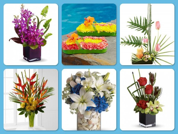 Summer party centerpieces for a surf or beach theme celebration