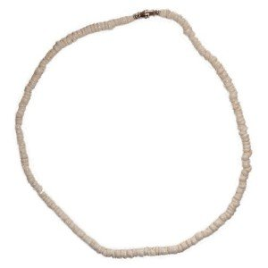 White Surfer Puka Shell Necklace